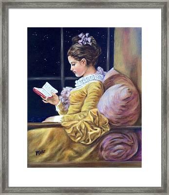 Nocturne Inspired By Fragonard Framed Print