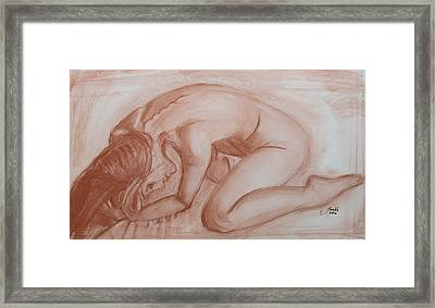Framed Print featuring the painting Nocturne by Jarko Aka Lui Grande
