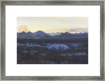 Nocturne On The Front Range Of Colorado Framed Print by Diane Edwards