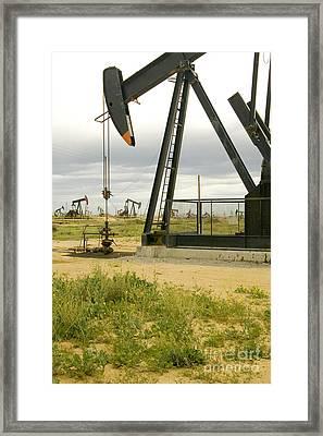 Nodding Donkey Oil Pumps Framed Print