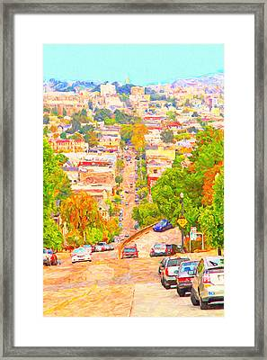 Noe Street San Francisco Framed Print by Wingsdomain Art and Photography