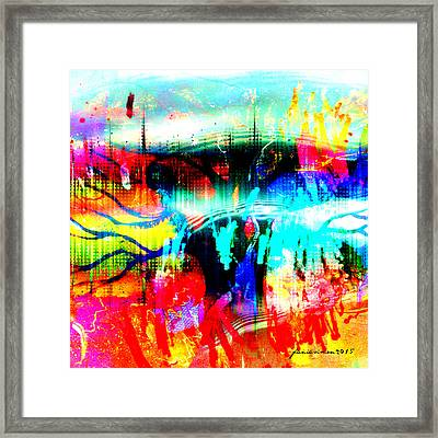 Noel Tree Framed Print by Fania Simon