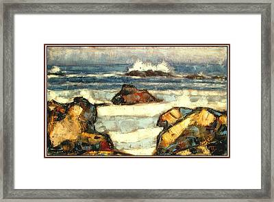 Framed Print featuring the painting Noise Of The Waves by Pemaro