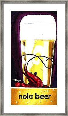 Nola Beer Framed Print by Terry J Marks Sr