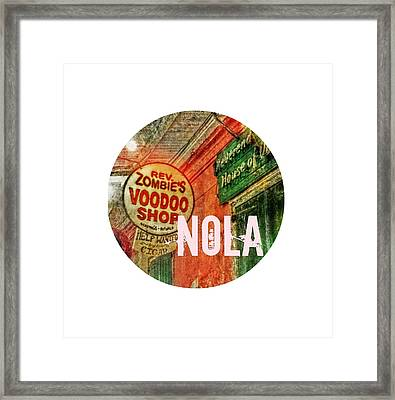 New Orleans Voodoo T Shirt Framed Print