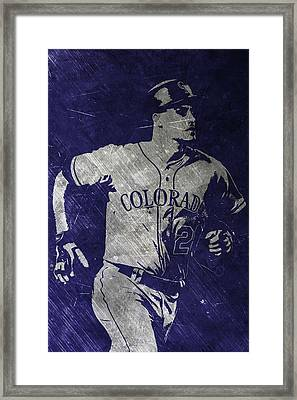 Nolan Arenado Colorado Rockies Art Framed Print