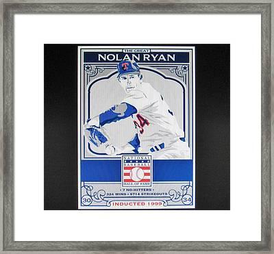 Nolan Ryan Texas Rangers Framed Print by Donna Wilson