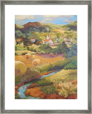 Nolandsville Church Framed Print by Katie Lindsey