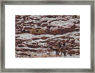 Nomads Of The Sinai Desert Framed Print