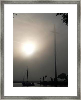 Nombre De Dios - The Great Cross Framed Print by Bob Johnson