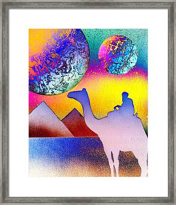 Non-stop To Cairo Framed Print by Drew Goehring