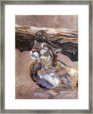 Nonchalant Framed Print by J W Baker