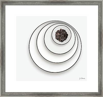 Framed Print featuring the photograph Nonconcentric Dishware And Coffee by Joe Bonita