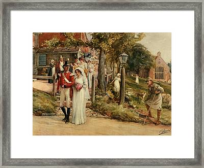 None But The Brave Deserve The Fair Framed Print by James Shaw Crompton