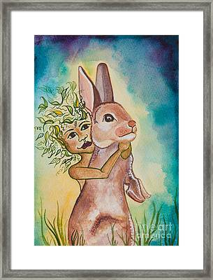 Nonie Of The Whimsical And Magickal Realm No. 2282 Framed Print by Ilisa Millermoon