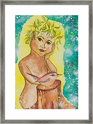 Nonie Of The Whimsical And Magickal Realm No. 2283 Framed Print by Ilisa Millermoon