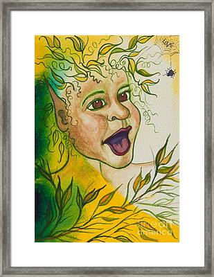 Nonie Of The Whimsical And Magickal Realm No. 2284 Framed Print by Ilisa Millermoon
