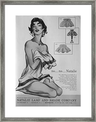 no...no... Natalie Framed Print