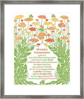 Nonviolent Communication Framed Print by Heidi Hanson