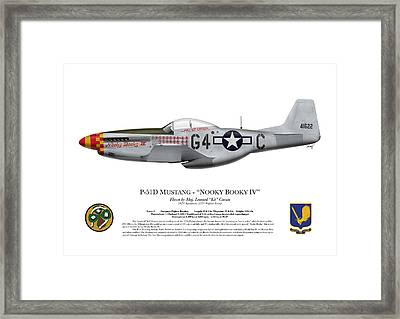 Nooky Booky I V - P-51 D Mustang Framed Print by Ed Jackson
