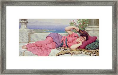 Noon Day Rest Framed Print by John William Godward
