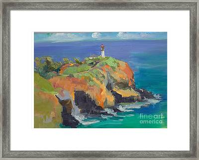 Noon Lighthouse Framed Print by Cynthia Riedel
