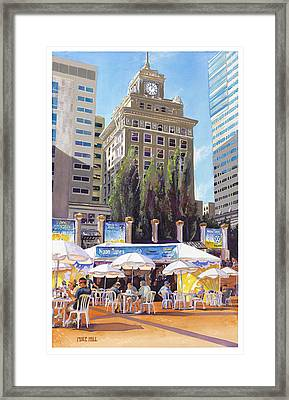 Noon Tunes Pioneer Square Framed Print by Mike Hill