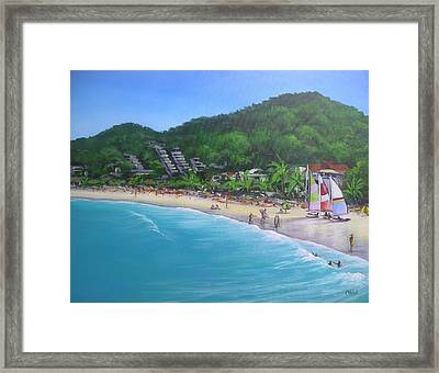 Noosa Fun Acrylic Painting Framed Print