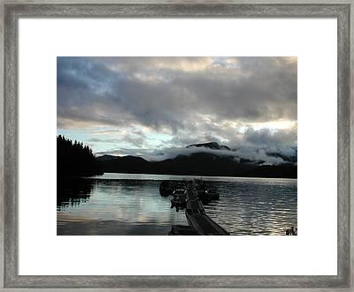 Nootka Sound Fog Framed Print