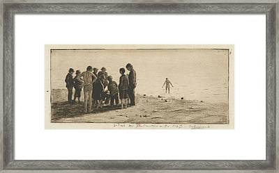 Norbert Goeneutte At Work, Dieppe Framed Print