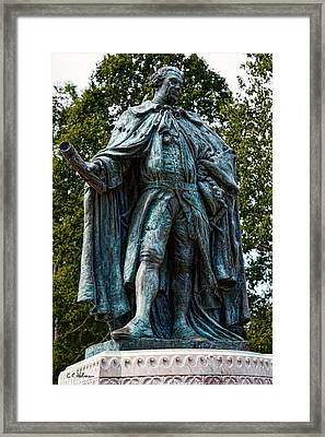 Norborne Berkeley - Baron De Botetourt Framed Print by Christopher Holmes