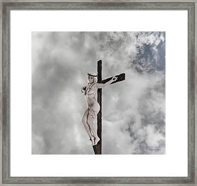 Nordic Female Jesus Framed Print