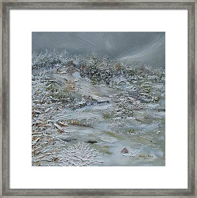 Framed Print featuring the painting Nor'easter by Judith Rhue
