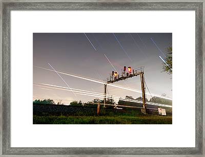 Norfolk Southern At Wellford Sc Framed Print by Derek Thornton