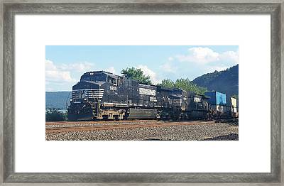 Norfolk Southern Ge C44-9w At Duncannon, Pa Framed Print
