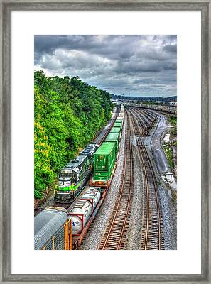 Framed Print featuring the photograph Norfolk Southern Locomotive 648 Atlanta Train Art by Reid Callaway
