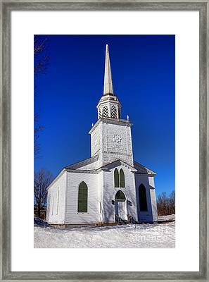 Norland Church In Livermore Maine Framed Print by Olivier Le Queinec