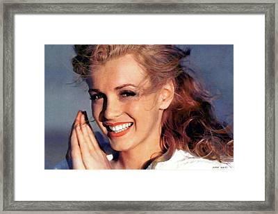 Norma Jeane Mortenson, Marilyn Monroe Framed Print by Thomas Pollart