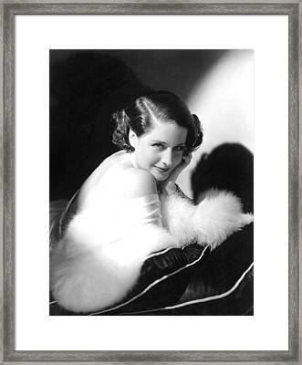 Norma Shearer, Ca. 1930s Framed Print