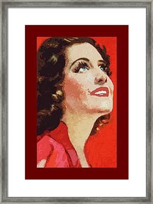 Norma Shearer Framed Print by James Hill