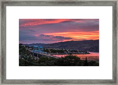 Normal Hill Sunset Framed Print