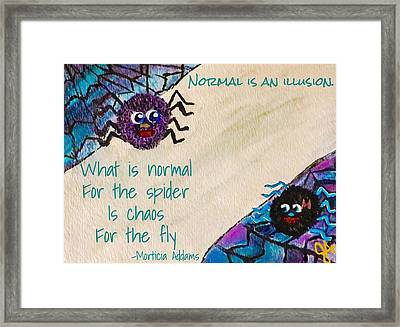 Normal Spider Chaos Fly Framed Print by Jennifer Turner