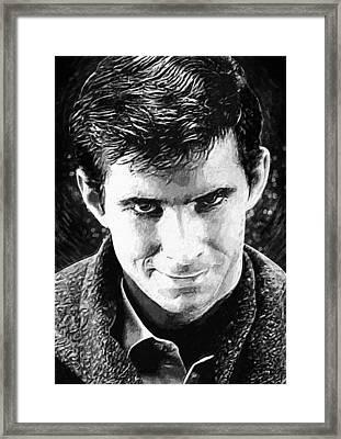 Norman Bates Framed Print by Taylan Apukovska