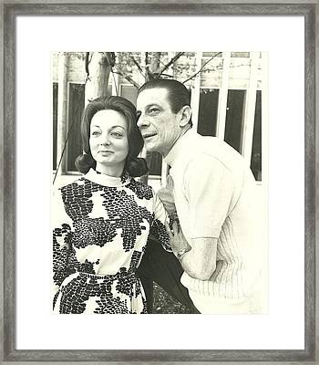 Norman Treigle And Linda Framed Print