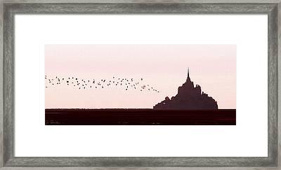 Normandy Dusk Framed Print