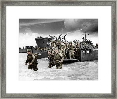 Normandy Landings Framed Print by American School