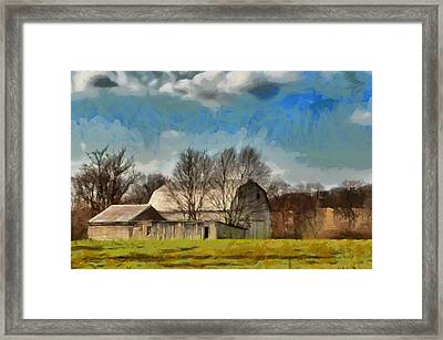 Framed Print featuring the mixed media Norman's Homestead by Trish Tritz