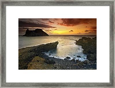 Noronha Sunrise Framed Print by Marcio Cabral
