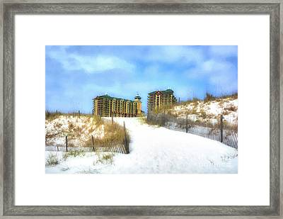 Framed Print featuring the photograph Norriego Point Sand Dunes by Mel Steinhauer