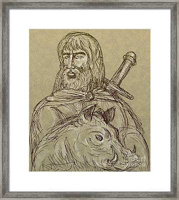 Norse God Of Agriculture Framed Print by Aloysius Patrimonio